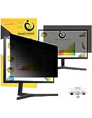 """VIUAUAX 25'' inch Privacy Screen Filter for Desktop Computer Widescreen Monitor - Anti-Glare, Blocks 96% UV,Anti-Scratch with 16:9 Aspect Ratio - 21.8"""" x 12.3"""""""