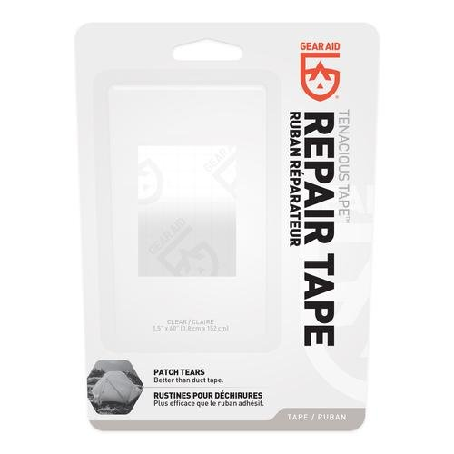 Economical Invisible Tape - Gear Aid Tenacious Tape Repair and Seam Tape for Tents and Vinyl, Clear Roll, 1.5