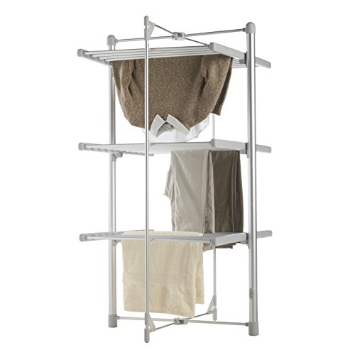 VonHaus Heated Clothes and Towel Drying Rack, Foldable 3 Tier Indoor Electric Laundry Airer