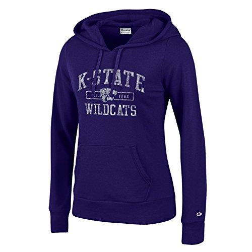 NCAA Kansas State Wildcats Women's Champion University Fleece Hoodie, Medium, Purple