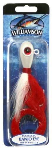 Williamson Banjo Eye Jig, 4-Ounce, Red White