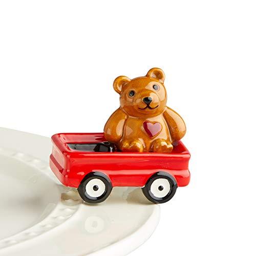Nora Fleming Hand-Painted Mini: St Jude Bear Hugs (Bear with Wagon) A220