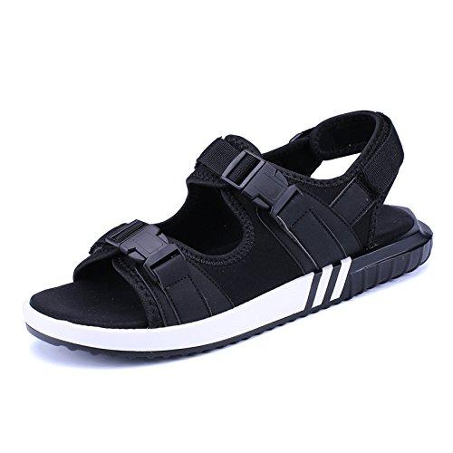 Sandali di estate di Roma uomini caldi pattini di spiaggia di pattini di movimento all'aperto di grandi dimensioni scarpe da studenti, nero, Regno Unito = 7,5, EU = 41 1/3