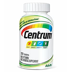 Centrum Adult (200 Count) Multivitamin/Multimineral Supplement Tablet, Vitamin D3