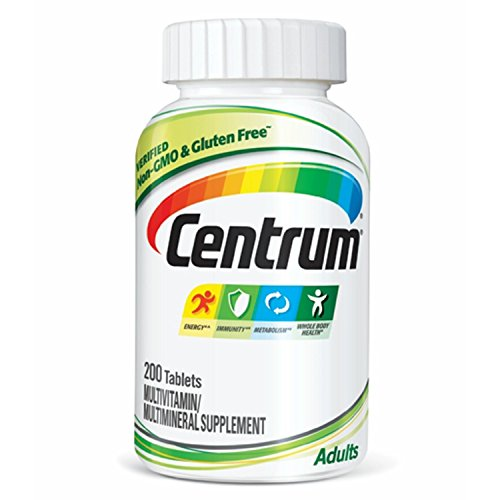 - Centrum Adult (200 Count) Multivitamin / Multimineral Supplement Tablet, Vitamin D3