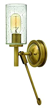 Hinkley 3380HB Restoration One Light Wall Sconce from Collier collection in Brassfinish,