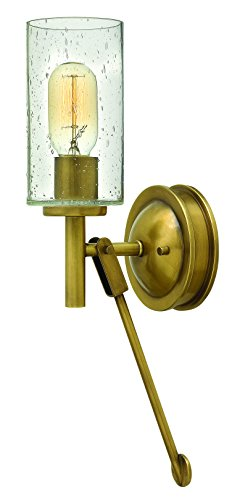 Hinkley Brass Light Fixture (Hinkley 3380HB Restoration One Light Wall Sconce from Collier collection in Brassfinish,)