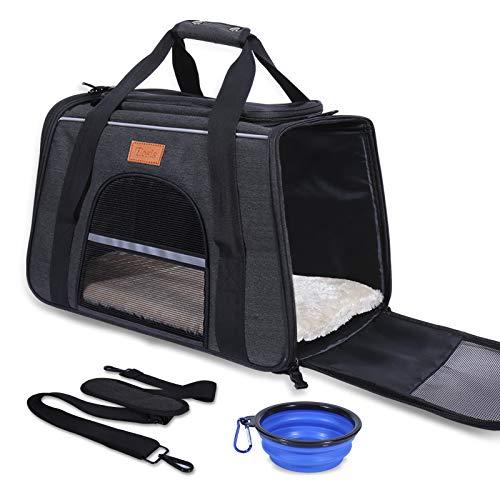 ELOSIS Transporttasche Katze und Kleine Hunde,Haustiertragetasche,Faltbare Hundetragetasche,Haustiertragetasche mit…