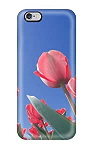 7765115K33568476 Tpu Case Cover Compatible For Iphone 6 Plus/ Hot Case/ Red Tulips Ohio