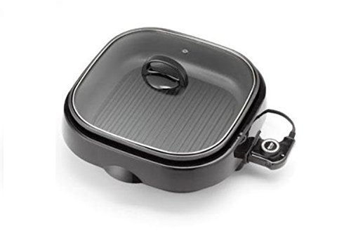 Aroma ASP-238BC 4 Quart, 3-in-1 Skillet with Lid by Aroma