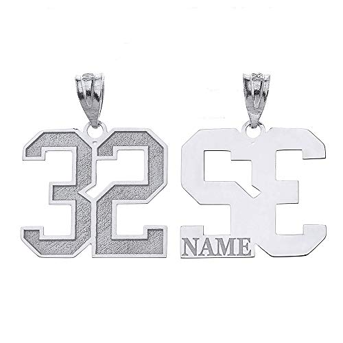 Sports Number Necklace (Personalized Your Lucky Number and Name Sports Jersey Silver)