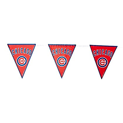Image of 'Chicago Cubs Major League Baseball Collection' Pennant Banner, Party Decoration, 12 Ct. Pennants