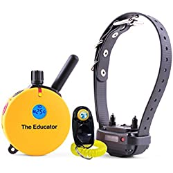 Bundle of 2 items – E-Collar – ET-400 – 3/4 Mile Rechargeable Remote Waterproof Trainer Educator - Static, Vibration and Sound Stimulation collar with PetsTEK Dog Training Clicker
