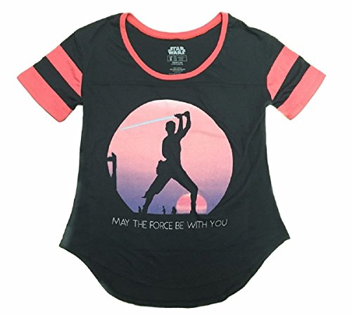 Star Wars The Force Awakens Rey Sunset Silhouette T-Shirt (XX-Large)