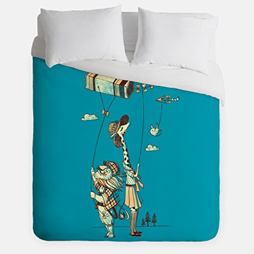 Lion Giraffe Duvet Cover/Kite Bedroom Decor/Made in USA/Great Bedroom Artwork