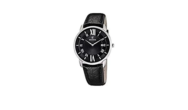 Amazon.com: Festina Mens Quartz Watch Klassik F6813/2 with Leather Strap: Watches