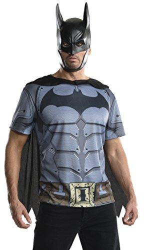 Rubie's Costume Men's Batman Arkham City Adult Batman Top, Multicolor, Small