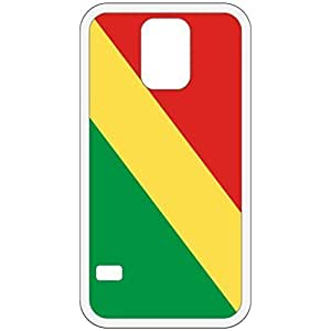 Republic Of The Congo Flag White Samsung Galaxy S5 Cell Phone Case - Cover
