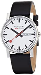 Mondaine Men's A667.30344.11SBB Evo Gents 38 Day-Date Leather Band Watch