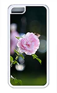 iPhone 5c case, Cute Pink Rose Bokeh iPhone 5c Cover, iPhone 5c Cases, Soft Whtie iPhone 5c Covers