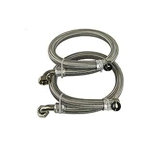 Mangueras trenzadas de acero inoxidable de 3/4 de pulgada (22 mm) para descalcificadores y filtros de agua