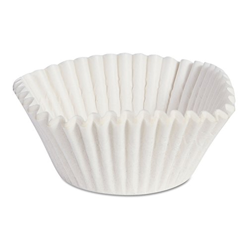 Fluted Baking Cups, Dry-Waxed Paper, White, 10000/carton