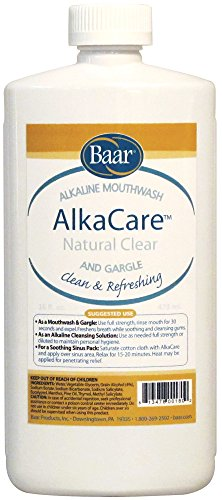 AlkaCare Natural Clear Mouthwash and Gargle, 16OZ.