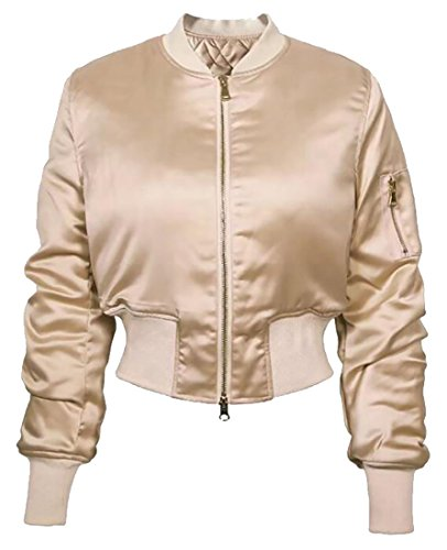 with Pockets Classic Jacket Short Coat Jacket 6 Womens Bomber TTYLLMAO Quilted B81wgznq