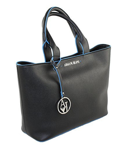 Armani Jeans 922531, Borsa tote donna nero nero B 30 x H 25 x T 12