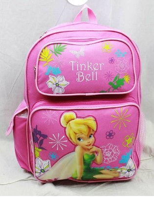 Backpack - Disney - Thinkerbell (Large School Bag) New Book Girls a00934 B00CMCKEGO