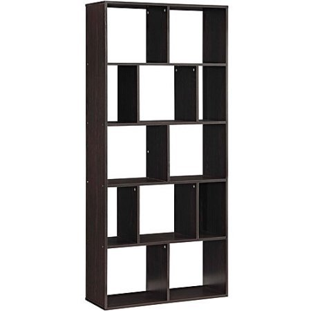 Mainstays Home 12-Shelf Bookcase Brown by Mainstays Home
