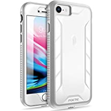 iPhone 8 Case,iPhone 7 Case, POETIC Revolution Series [Premium Rugged][Shock Absorption & Dust Resistant] Complete Protection Hybrid Case w/ Built-In Screen Protector for Apple iPhone 7 (2016) / iPhone 8 (2017) White/Gray
