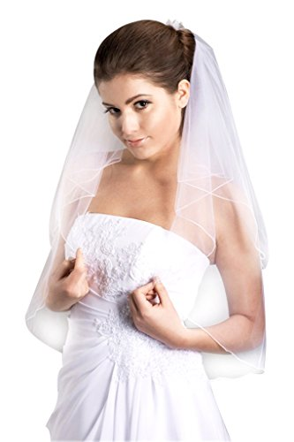 VERNASSA 2 layers Bridal Veil with Comb Wedding Veils