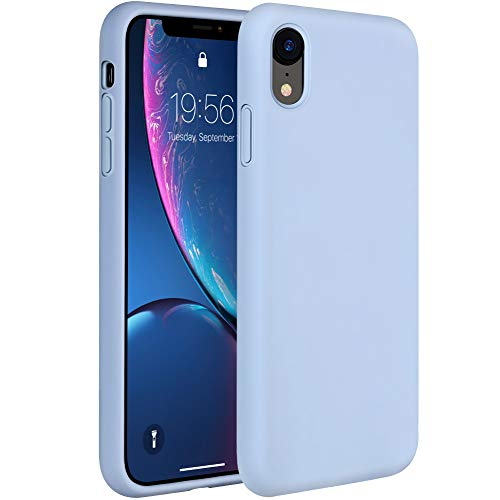 (Miracase Liquid Silicone Case Compatible with iPhone XR 6.1 inch (2018), Gel Rubber Full Body Protection Shockproof Cover Case Drop Protection Case (Clove Purple))
