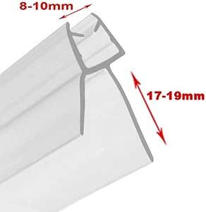 Junta para mampara de ducha para cristal de 6 - 8 mm de grosor con hueco de 15 - 17 mm, flexible.: Amazon.es: Juguetes y juegos