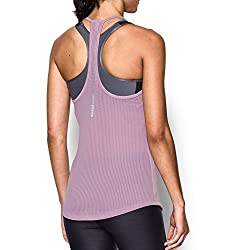 Under Armour Women's Fly-by Racerback Tank, Fresh Orchidreflective, Medium