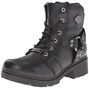 Harley-Davidson Women's Jocelyn Motorcycle Boot, Black, 8 M US