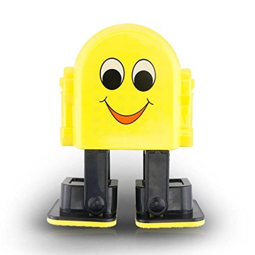 TANGON Mini Bluetooth Speaker Wireless Portable Robot Dancing Music Speaker Best Gift for Kids (Yellow) -