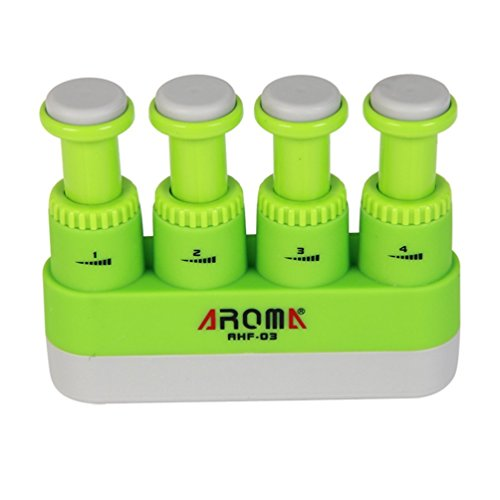 (Hand Finger Exerciser and Finger Strengthener for Guitar Playing , Piano Playing , Rock Climbing (green))