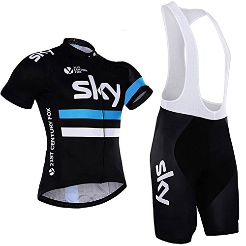 - HnjPama Pro Team Men Women Cycling Jersey Set Bib Shorts Bamboo Fiber Cycling Jersey-Blue-XL