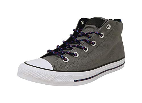 Converse Men's Chuck Taylor All Star Street Mid Sneaker, Mason/Black/White, 9.5 M - Mid Men Converse Top