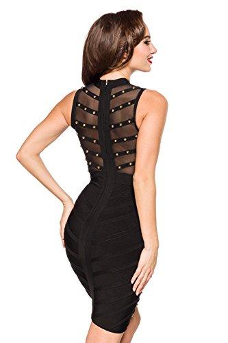 Atixo Atixo Bandagekleid Damen Premium Premium Damen Schwarz q08861