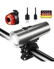 Nasharia LED Fahrradlicht Set, LF-06 StVZO Zugelassen 600 Lumen USB Wiederaufladbare Fahrradbeleuchtung fahrradlichter Set, IPX5 Wasserdicht Frontlicht Rücklicht Fahrradlampe Set, Licht für Fahrrad