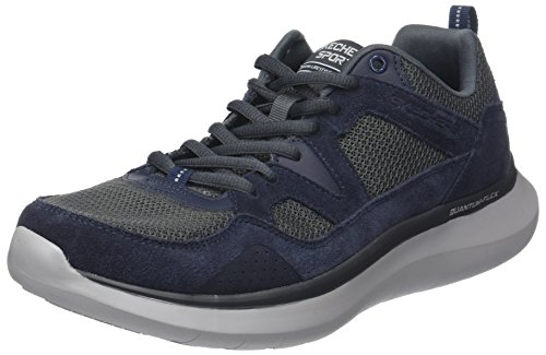 Flex Grey Navy Country Bleu Quantum Skechers Baskets Homme Walker T5Fwq