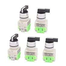 uxcell® AC660V 10A 3 Selector Position Momentary DPST Rotary Switch 5 Pcs