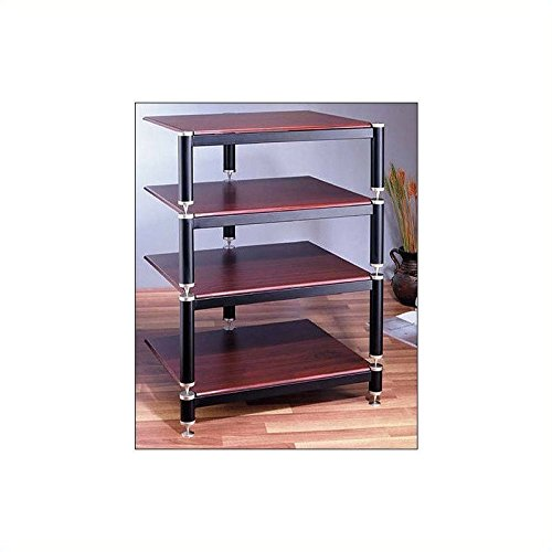 BL Series Audio Rack (Gold w Cherry Shelf) by VTI