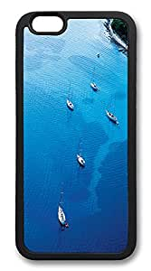 ICORER iPhone 6 Case Boats And Ocean Awesome TPU Case Cover for Apple iPhone 6 Black