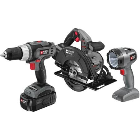 Porter Cable 18 Volt Ni-Cad 3-Piece Tool Combo Kit