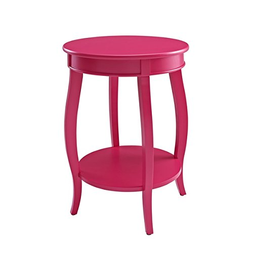 Powell Pop and Rock Bubblegum Round Table with Shelf