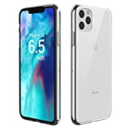 Temdan Designed for iPhone 11 Pro Max Case, HD Clear Ultra Thin Slim Fit Soft TPU Protective Case, Shock-Absorption Anti-Scratch Cover Case for iPhone 11 Pro Max Cases 6.5 inch 2019-(Clear)